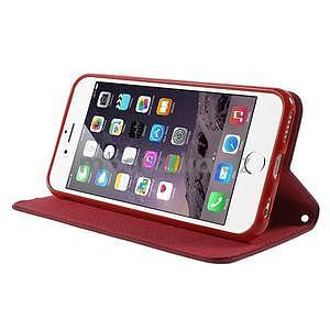 Klopové puzdro pre iPhone 6 a iPhone 6s - červené - 3