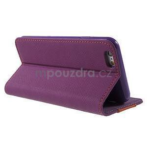 Klopové puzdro pre iPhone 6 a iPhone 6s - fialové - 3