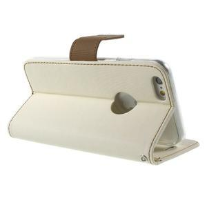 Peňaženkové koženkové puzdro na iPhone 6s a 6 - biele - 3