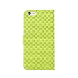Mriežkovaného koženkové puzdro na iPhone 6 a iPhone 6s - zelené - 3