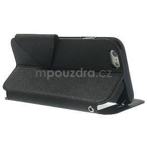 Peňaženkové puzdro s okienkom na iPhone 6 a 6s - čierne - 3