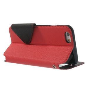 Peňaženkové puzdro s okienkom na iPhone 6 a 6s - červené - 3