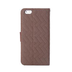 Elegantné peňaženkové púzdro pre iPhone 6 Plus a 6s Plus - hnedé - 3