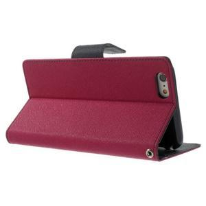 Peňaženkové puzdro pre iPhone 6 Plus a 6s Plus -  rose - 3