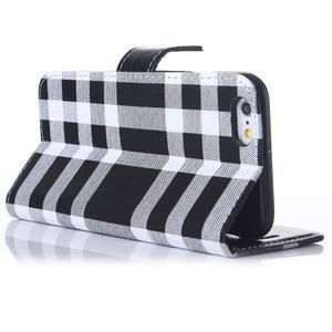 Peňaženkové puzdro Fancy na iPhone 6 Plus a 6s Plus - čiernobiele - 3