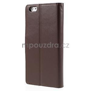 Peňaženkové puzdro pre iPhone 6 Plus a 6s Plus - hnedé - 3