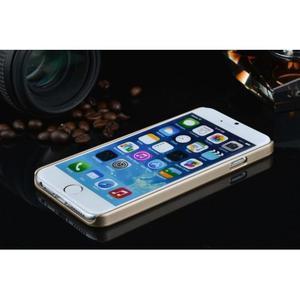 Štýlový kryt s kovovými chrbtom pre iPhone 6 Plus a 6s Plus - champagne - 3