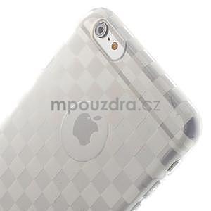 Transparentný kockovaný gélový obal na iPhone 6 Plus a 6s Plus - 3