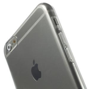 Ultra slim lesklý gélový obal na iPhone 6 Plus a 6s Plus - šedý - 3