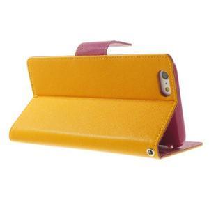 Peňaženkové puzdro pre iPhone 6 Plus a 6s Plus -  žlté - 3