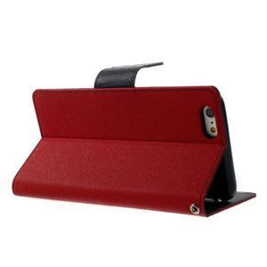 Peňaženkové puzdro pre iPhone 6 Plus a 6s Plus -  červené - 3