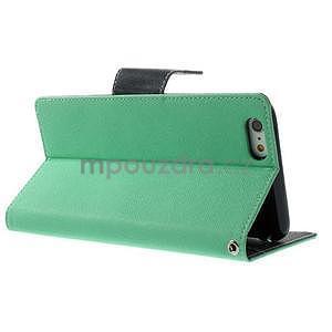 Peňaženkové puzdro pre iPhone 6 Plus a 6s Plus - azurové - 3