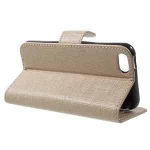 Cloth PU kožené pouzdro na iPhone SE / 5s / 5 - zlaté - 3
