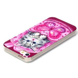 gélový obal pre mobil iPhone SE / 5s / 5 - mačiatko - 3