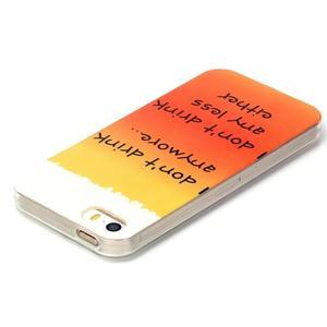 gélový obal pre mobil iPhone SE / 5s / 5 - drink - 3