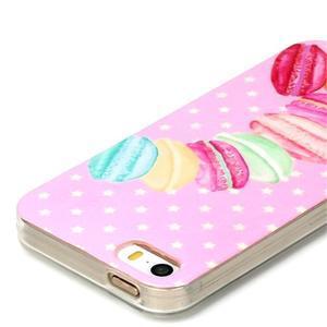 Gelový obal na mobil iPhone SE / 5s / 5 - makrónky - 3