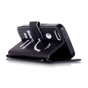 Peňaženkové puzdro pre mobil iPhone SE / 5s / 5 - nedotýkať sa - 3