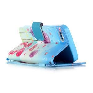 Peňaženkové puzdro pre mobil iPhone SE / 5s / 5 - púpavy - 3