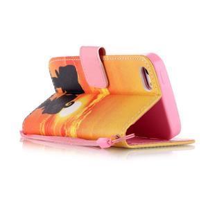 Peňaženkové puzdro pre mobil iPhone SE / 5s / 5 - zapadajúce slnko - 3