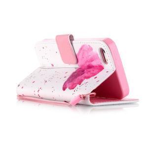 Peňaženkové puzdro pre mobil iPhone SE / 5s / 5 - makový kvet - 3