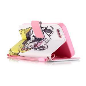 Peňaženkové puzdro pre mobil iPhone SE / 5s / 5 - buldog - 3
