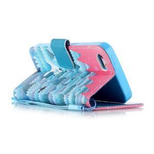 Peňaženkové puzdro pre mobil iPhone SE / 5s / 5 - snežný muž - 3