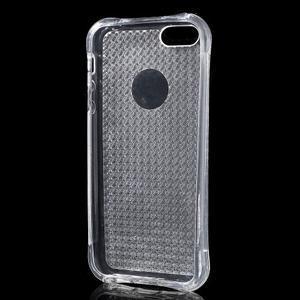 Diamnods gelový obal se silným obvodem na iPhone SE / 5s / 5 - transparentní - 3