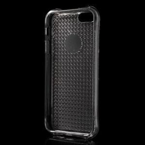 Diamonds gélový obal se silným obvodom na iPhone SE / 5s / 5 - sivý - 3