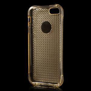 Diamnods gelový obal se silným obvodem na iPhone SE / 5s / 5 - zlatý - 3