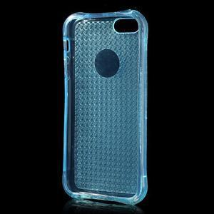 Diamnods gelový obal se silným obvodem na iPhone SE / 5s / 5 - modrý - 3