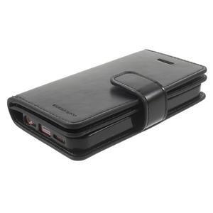 Extrarich PU kožené puzdro pre iPhone SE / 5s / 5 - čierne - 3
