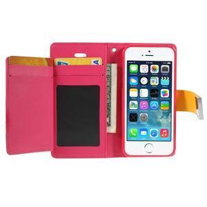 Rich diary PU kožené pouzdro na iPhone SE / 5s / 5 - žluté - 3