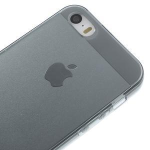 gélový Transparentný obal pre iPhone SE / 5s / 5 - sivý - 3