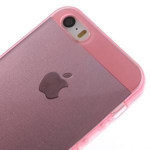 gélový Transparentný obal pre iPhone SE / 5s / 5 - ružový - 3