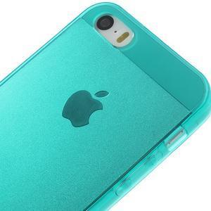 gélový Transparentný obal pre iPhone SE / 5s / 5 - modrozelený - 3