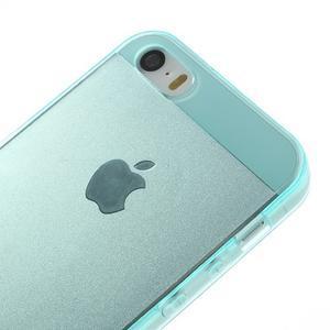 gélový Transparentný obal pre iPhone SE / 5s / 5 - cyan - 3