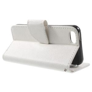 Cross PU kožené puzdro pre iPhone SE / 5s / 5 - biele - 3