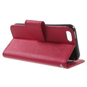 Cross PU kožené pouzdro na iPhone SE / 5s / 5 - červené - 3