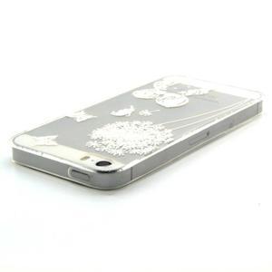 Transparentní gelový obal na mobil iPhone SE / 5s / 5 - láska - 3