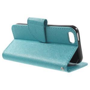 Cross PU kožené pouzdro na iPhone SE / 5s / 5 - modré - 3