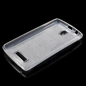 Povrchově třpytivý gelový obal na mobil Lenovo A2010 - stříbrný - 3