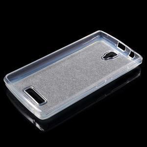 Povrchove trblietavý gélový obal pre mobil Lenovo A2010 - šedý - 3
