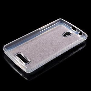 Povrchově třpytivý gelový obal na mobil Lenovo A2010 - rose - 3