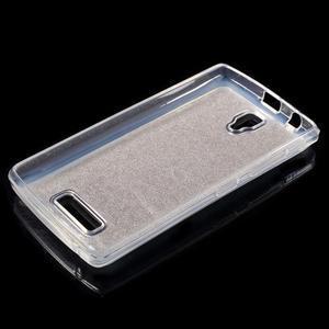 Povrchove trblietavý gélový obal pre mobil Lenovo A2010 - zlatý - 3