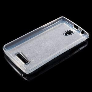 Povrchově třpytivý gelový obal na mobil Lenovo A2010 - tmavěmodrý - 3