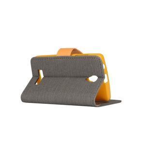Clothy PU kožené pre mobil Lenovo A2010 - šedé - 3