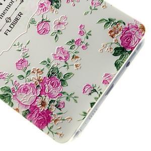 Kvetinový gélový obal pre mobil Lenovo A7000 / K3 Note - bielé pozadie - 3
