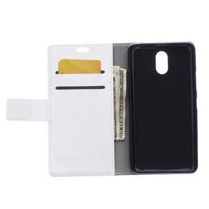GX koženkové peňaženkové na mobil Lenovo Vibe P1m - biele - 3
