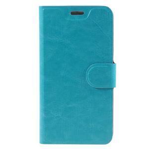 Horse peňaženkové puzdro pre Lenovo Vibe P1m - modré - 3