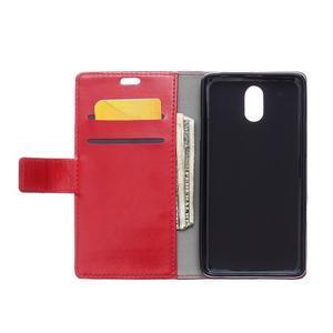 GX koženkové peňaženkové na mobil Lenovo Vibe P1m - červené - 3